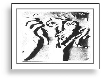 Original electronic painting by Ture Sjolander MONUMENT 1967. (Paul McCartney)